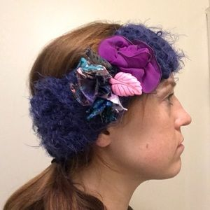 One-of-a-kind hand-knitted headband.